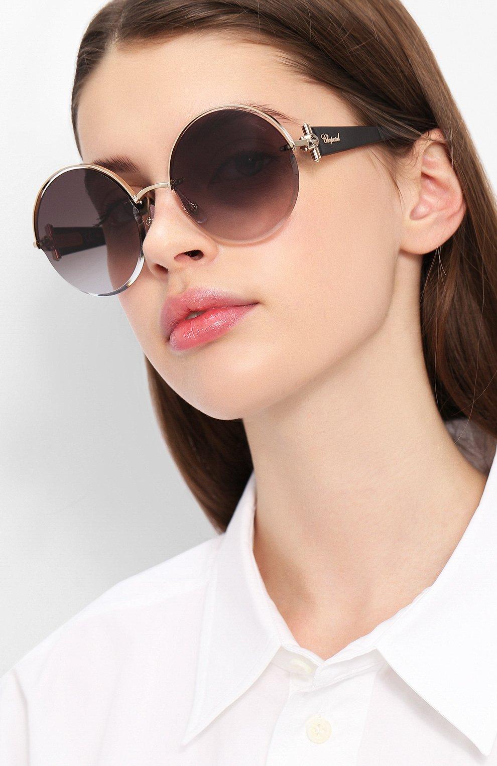 Женские солнцезащитные очки CHOPARD черного цвета, арт. C81S 300 | Фото 2
