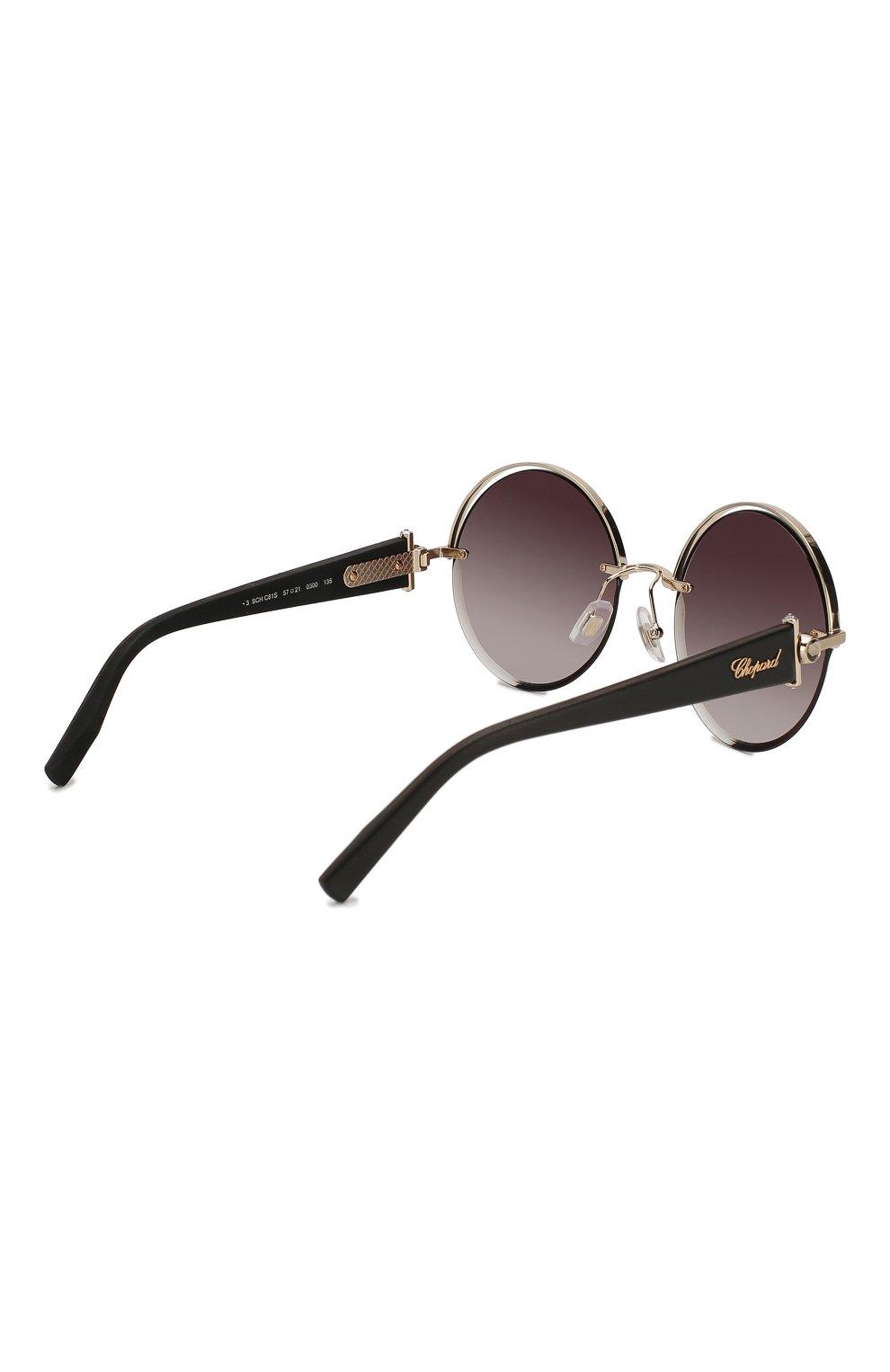 Женские солнцезащитные очки CHOPARD черного цвета, арт. C81S 300 | Фото 4