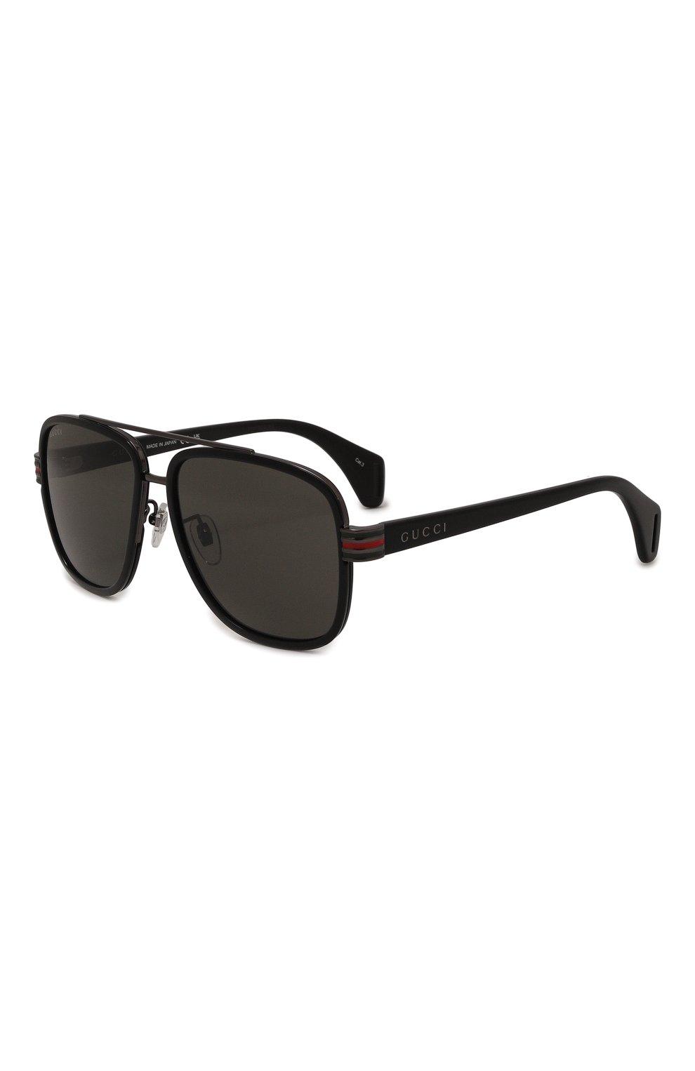 Мужские солнцезащитные очки GUCCI черного цвета, арт. GG0448 001   Фото 1