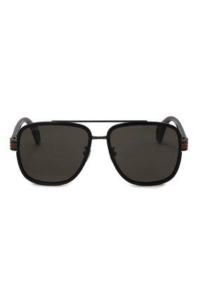 Мужские солнцезащитные очки GUCCI черного цвета, арт. GG0448 001   Фото 3