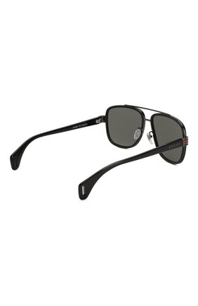 Мужские солнцезащитные очки GUCCI черного цвета, арт. GG0448 001   Фото 4