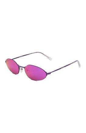 Мужские солнцезащитные очки BALENCIAGA фиолетового цвета, арт. BB0055 002 | Фото 1