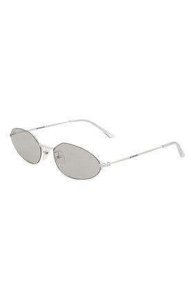 Мужские солнцезащитные очки BALENCIAGA белого цвета, арт. BB0055 004 | Фото 1