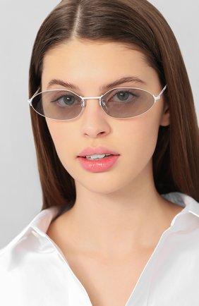 Мужские солнцезащитные очки BALENCIAGA белого цвета, арт. BB0055 004 | Фото 2