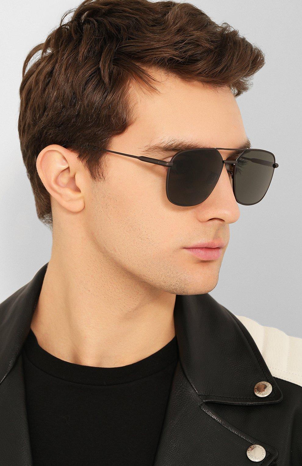 Мужские солнцезащитные очки BRIONI черного цвета, арт. BR0067 005   Фото 2