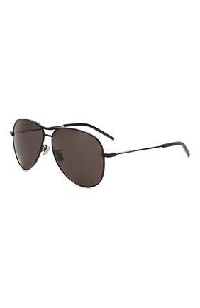 Женские солнцезащитные очки SAINT LAURENT черного цвета, арт. CLASSIC 11 BL0NDIE 001 | Фото 1