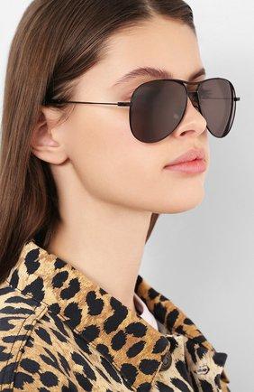 Женские солнцезащитные очки SAINT LAURENT черного цвета, арт. CLASSIC 11 BL0NDIE 001 | Фото 2