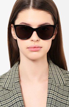 Женские солнцезащитные очки SAINT LAURENT черного цвета, арт. SL 305 001 | Фото 2