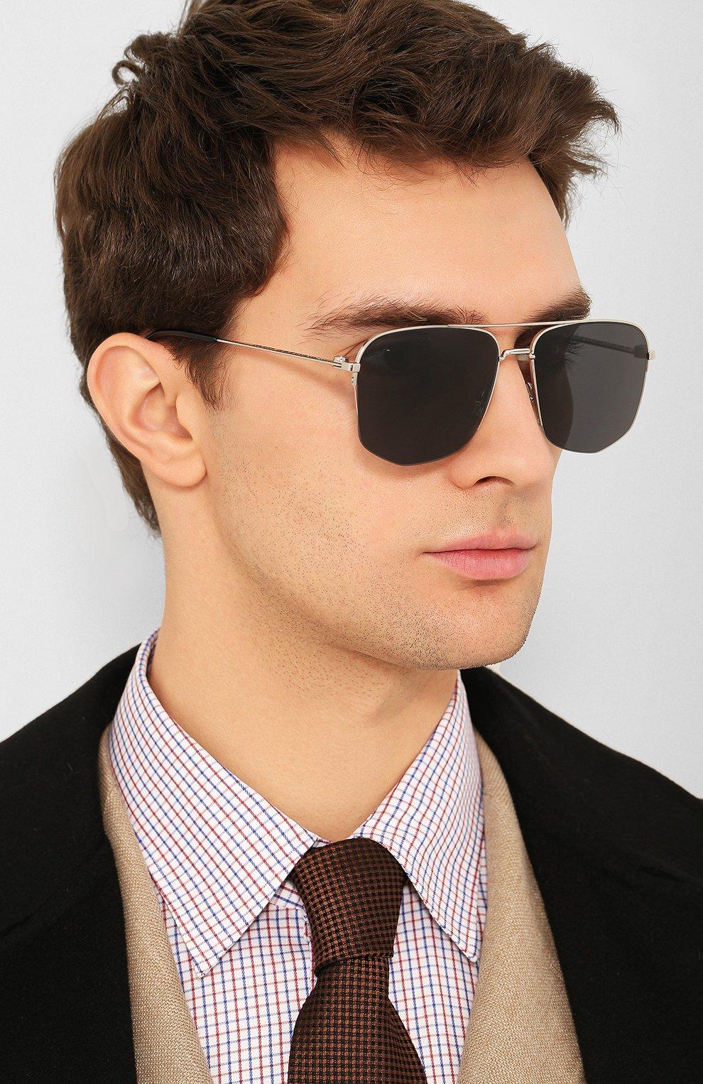 Мужские солнцезащитные очки DIOR черного цвета, арт. DI0R180 84J | Фото 2