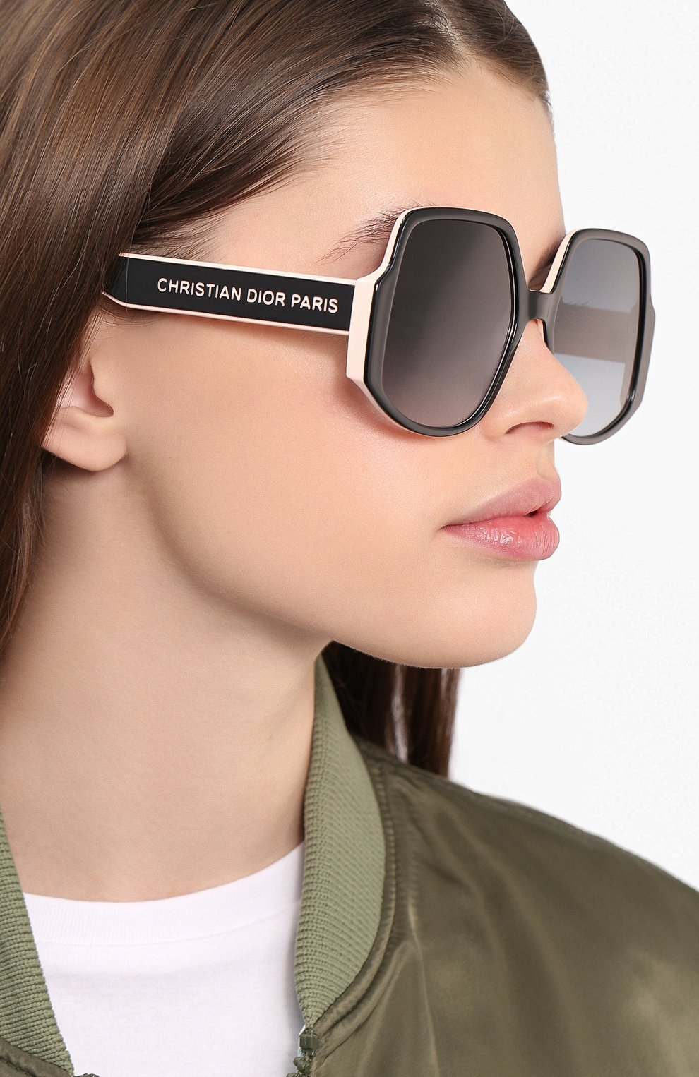 Женские солнцезащитные очки DIOR черного цвета, арт. DI0RINSIDE0UT1 3H2 | Фото 2