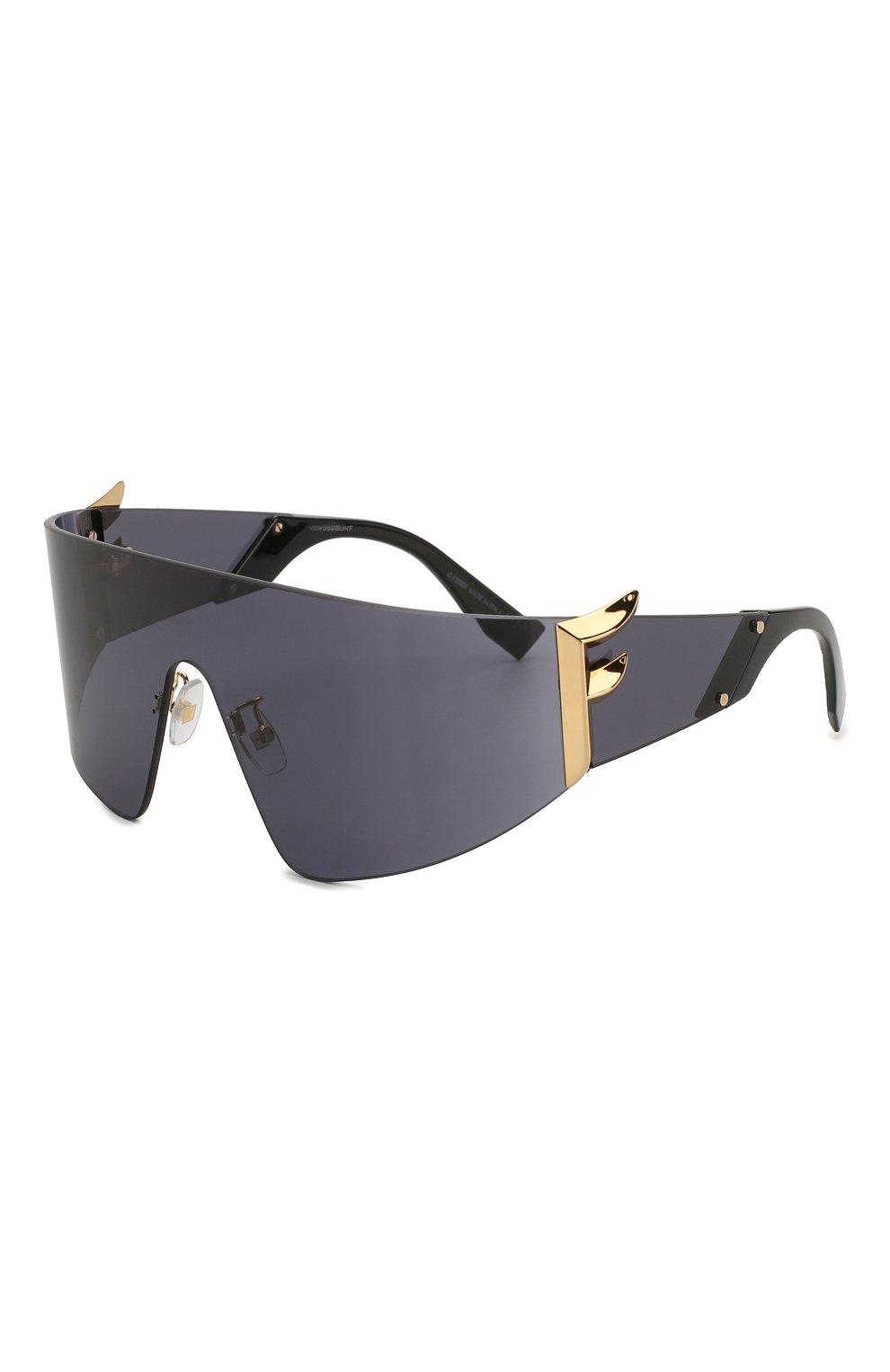 Женские солнцезащитные очки FENDI черного цвета, арт. 0382 807 | Фото 1