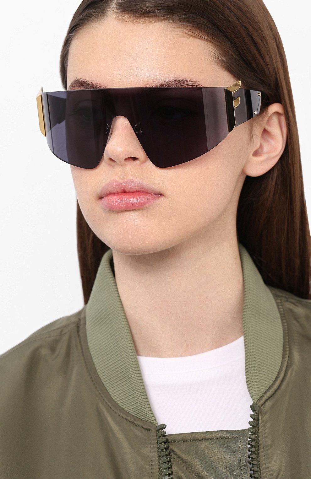 Женские солнцезащитные очки FENDI черного цвета, арт. 0382 807 | Фото 2