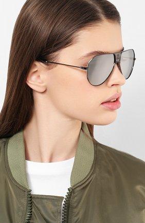 Женские солнцезащитные очки GIVENCHY черного цвета, арт. 7137 284 | Фото 2