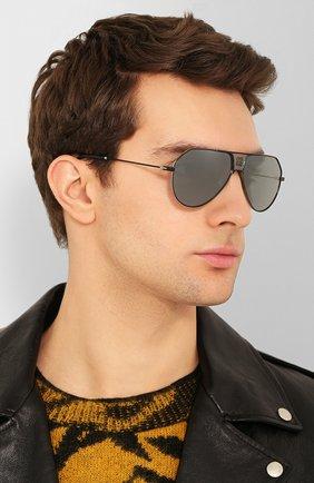 Женские солнцезащитные очки GIVENCHY черного цвета, арт. 7137 284 | Фото 3