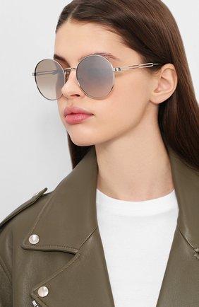 Женские солнцезащитные очки GIVENCHY серебряного цвета, арт. 7149/F 010 | Фото 2