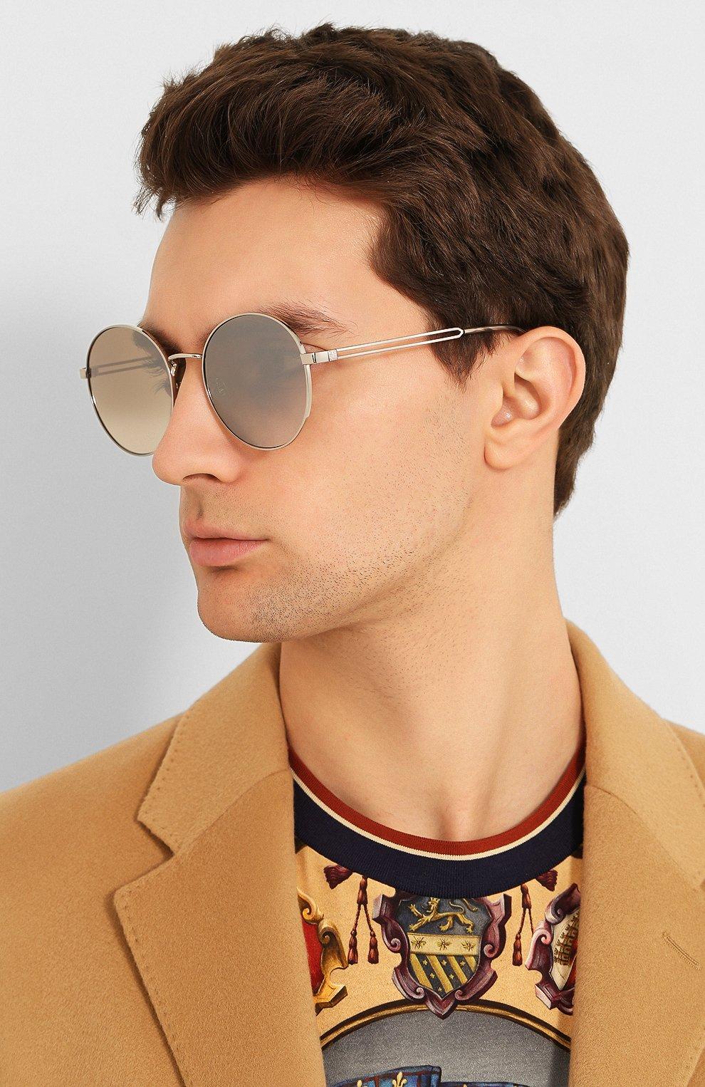 Женские солнцезащитные очки GIVENCHY серебряного цвета, арт. 7149/F 010 | Фото 3