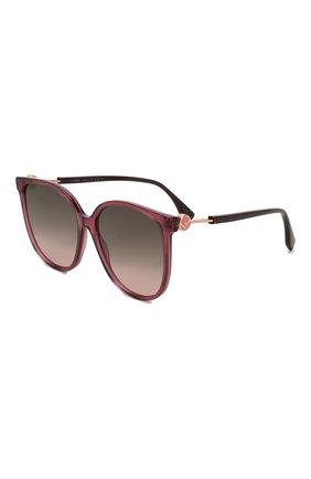 Мужские солнцезащитные очки FENDI бордового цвета, арт. 0374 0T7 | Фото 1