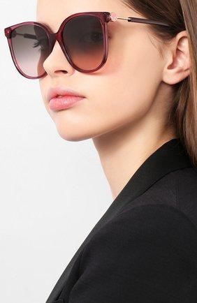 Мужские солнцезащитные очки FENDI бордового цвета, арт. 0374 0T7 | Фото 2