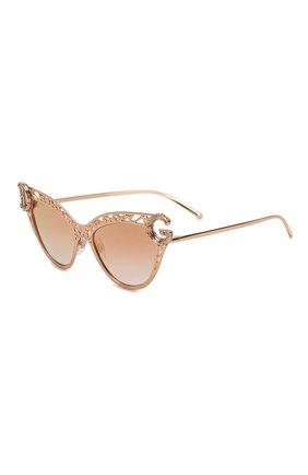 Женские солнцезащитные очки DOLCE & GABBANA золотого цвета, арт. 2239-12986F   Фото 1