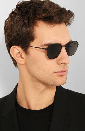Мужские солнцезащитные очки GIORGIO ARMANI серого цвета, арт. 6096-300161 | Фото 2