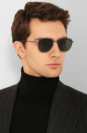 Мужские солнцезащитные очки GIORGIO ARMANI зеленого цвета, арт. 6096-326071 | Фото 2