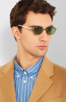 Женские солнцезащитные очки RAY-BAN зеленого цвета, арт. 8061-003/2 | Фото 3