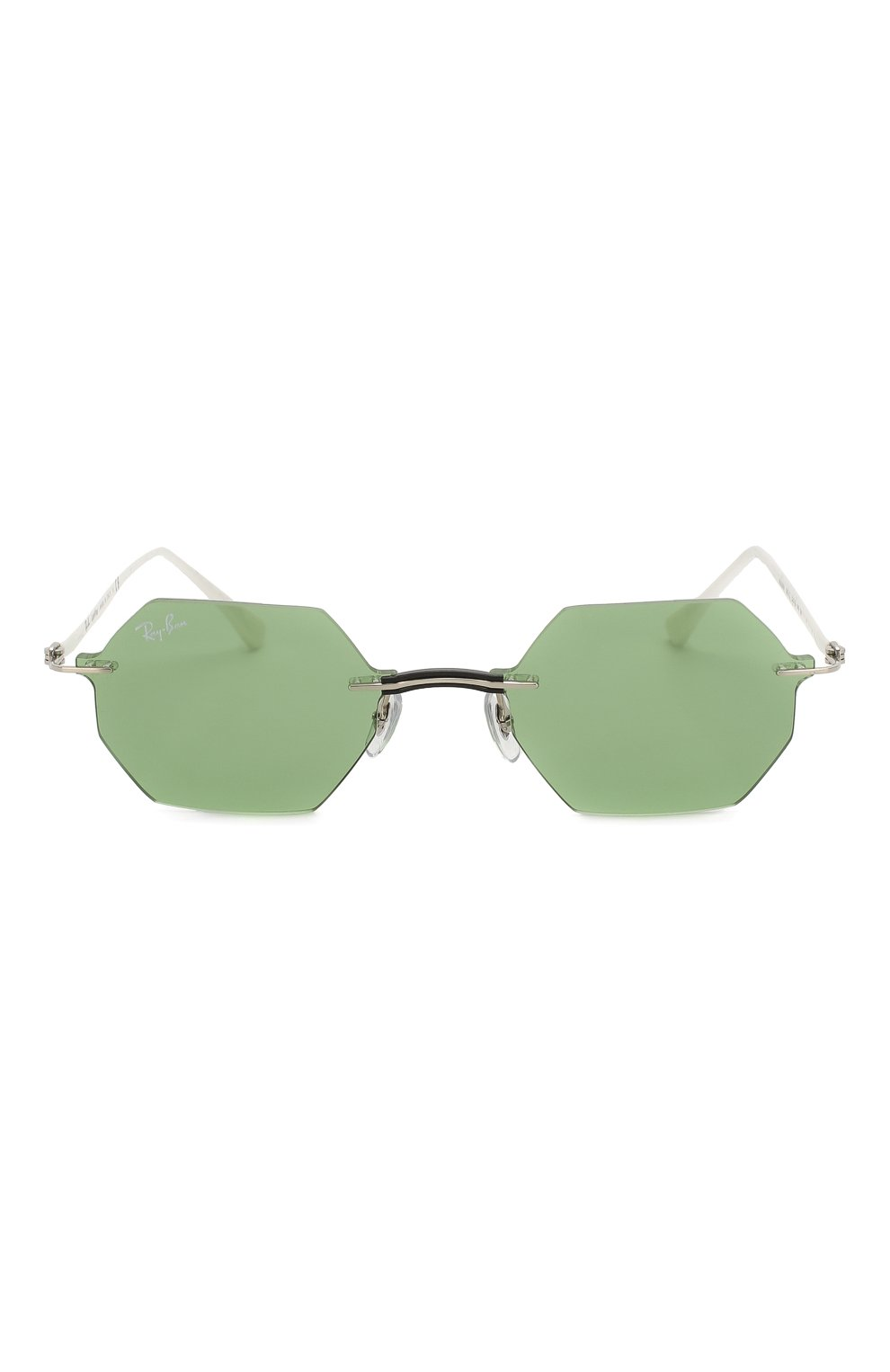 Женские солнцезащитные очки RAY-BAN зеленого цвета, арт. 8061-003/2 | Фото 4