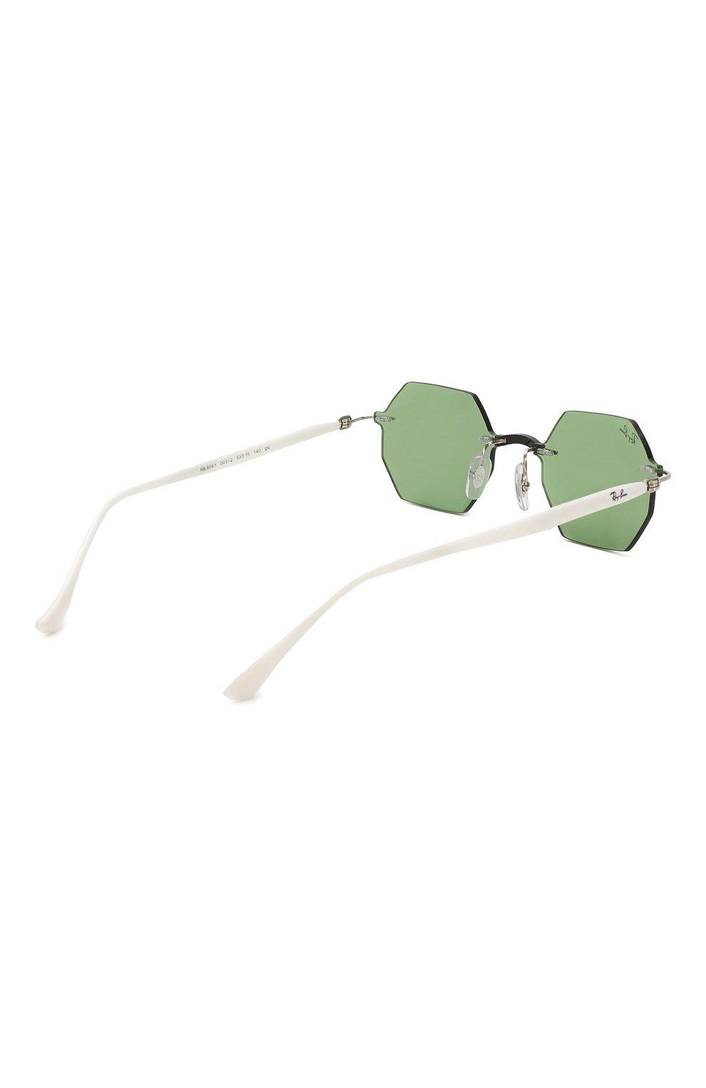 Женские солнцезащитные очки RAY-BAN зеленого цвета, арт. 8061-003/2 | Фото 5