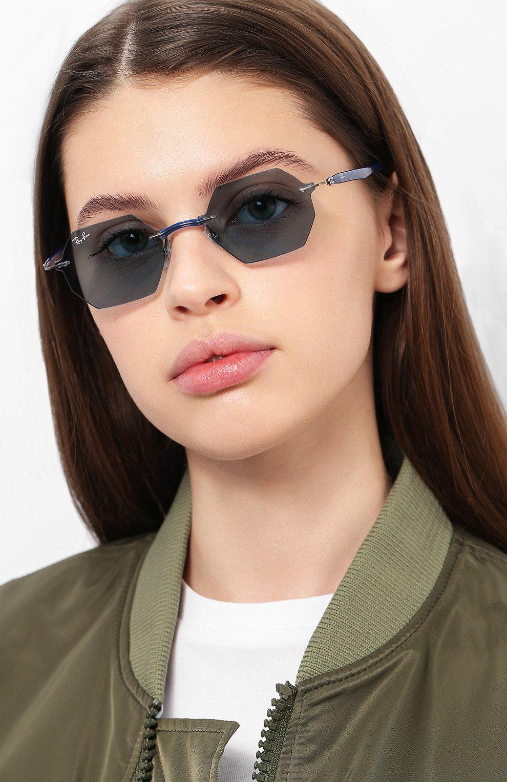 Женские солнцезащитные очки RAY-BAN синего цвета, арт. 8061-004/80 | Фото 2