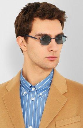 Женские солнцезащитные очки RAY-BAN синего цвета, арт. 8061-004/80 | Фото 3