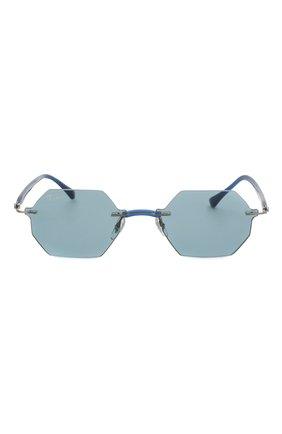 Женские солнцезащитные очки RAY-BAN синего цвета, арт. 8061-004/80 | Фото 4