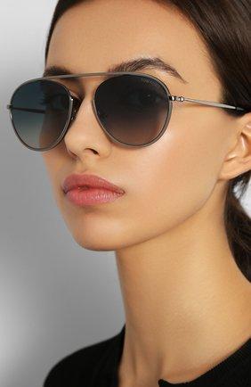 Женские солнцезащитные очки TOM FORD синего цвета, арт. TF599 08W | Фото 2
