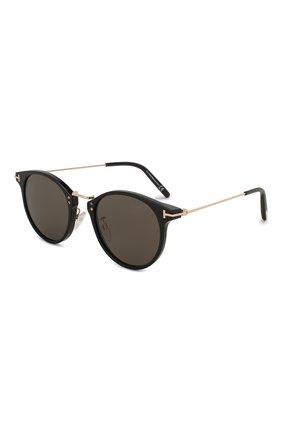 Женские солнцезащитные очки TOM FORD черного цвета, арт. TF673 01A | Фото 1 (Статус проверки: Проверена категория; Тип очков: С/з; Оптика Гендер: оптика-мужское; Очки форма: Круглые)