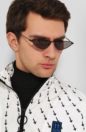 Женские солнцезащитные очки MCQ SWALLOW черного цвета, арт. MQ0226 001 | Фото 3