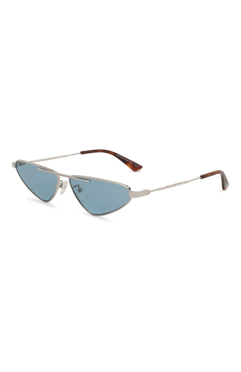 Женские солнцезащитные очки MCQ SWALLOW голубого цвета, арт. MQ0226 004 | Фото 1 (Тип очков: С/з; Статус проверки: Проверена категория; Оптика Гендер: оптика-унисекс; Очки форма: Узкие, D-форма)