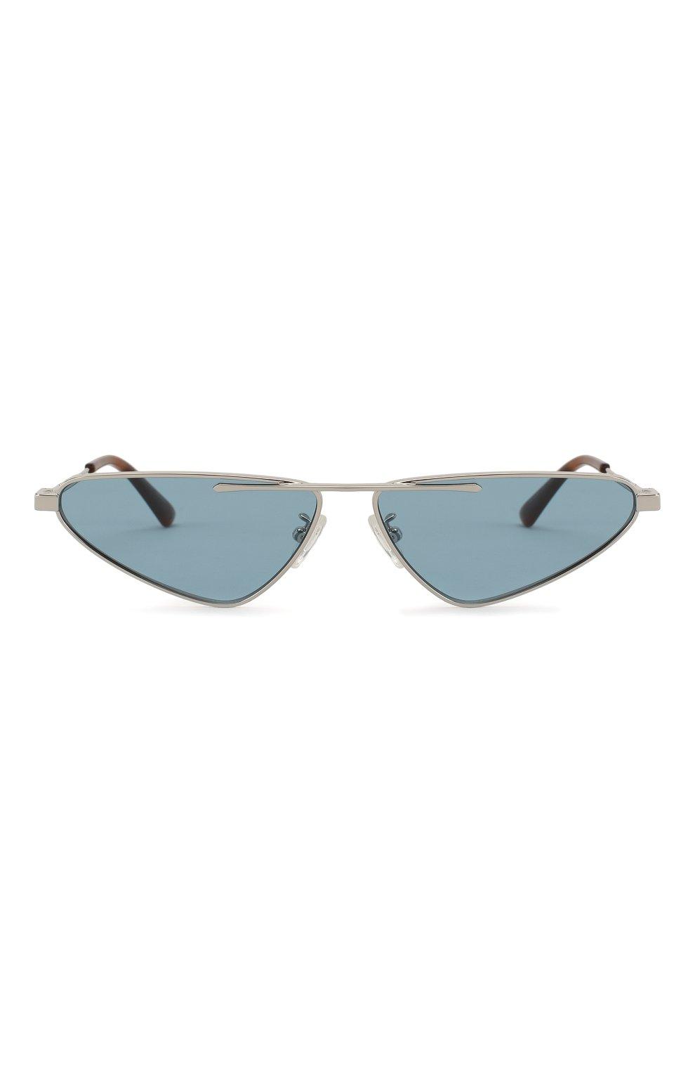 Женские солнцезащитные очки MCQ SWALLOW голубого цвета, арт. MQ0226 004 | Фото 4 (Тип очков: С/з; Статус проверки: Проверена категория; Оптика Гендер: оптика-унисекс; Очки форма: Узкие, D-форма)