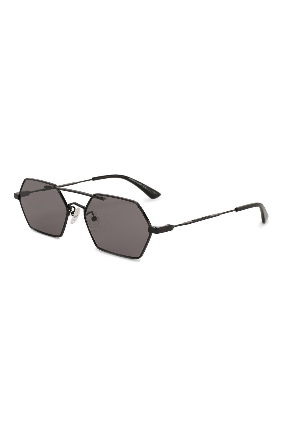 Мужские солнцезащитные очки MCQ SWALLOW черного цвета, арт. MQ0227SA 001   Фото 1 (Тип очков: С/з; Статус проверки: Проверена категория; Оптика Гендер: оптика-мужское)