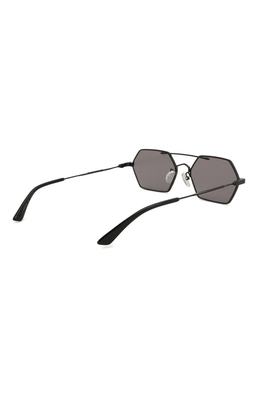 Мужские солнцезащитные очки MCQ SWALLOW черного цвета, арт. MQ0227SA 001   Фото 4 (Тип очков: С/з; Статус проверки: Проверена категория; Оптика Гендер: оптика-мужское)