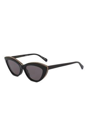 Мужские солнцезащитные очки STELLA MCCARTNEY черного цвета, арт. SC0187 005 | Фото 1