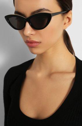 Мужские солнцезащитные очки STELLA MCCARTNEY черного цвета, арт. SC0187 005 | Фото 2