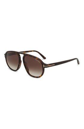 Мужские солнцезащитные очки TOM FORD коричневого цвета, арт. TF755 52K | Фото 1