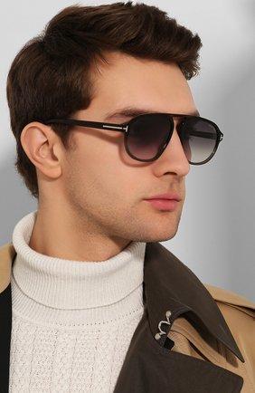 Мужские солнцезащитные очки TOM FORD коричневого цвета, арт. TF755 55B | Фото 2