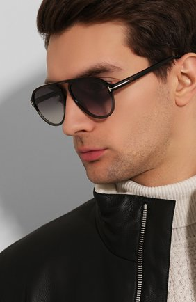 Мужские солнцезащитные очки TOM FORD коричневого цвета, арт. TF756 52B | Фото 2