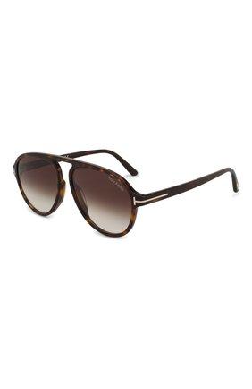 Мужские солнцезащитные очки TOM FORD коричневого цвета, арт. TF756 52K | Фото 1