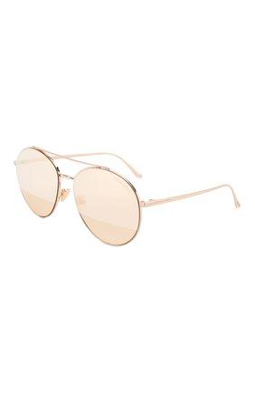 Женские солнцезащитные очки TOM FORD золотого цвета, арт. TF757 28Z | Фото 1