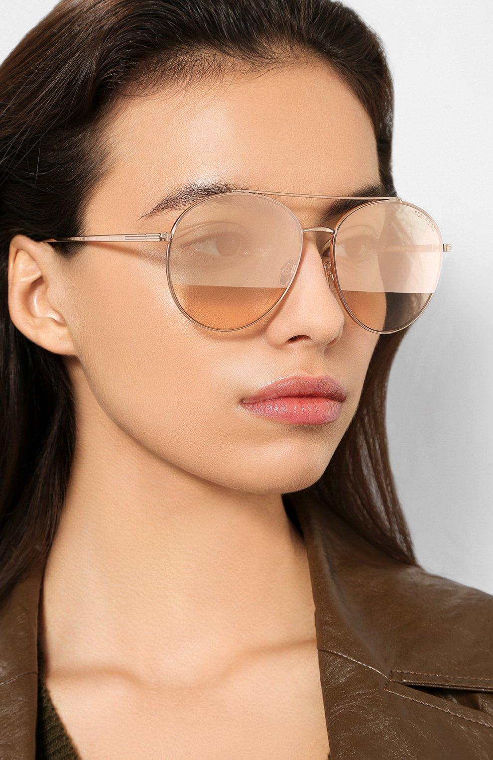 Женские солнцезащитные очки TOM FORD золотого цвета, арт. TF757 28Z | Фото 2