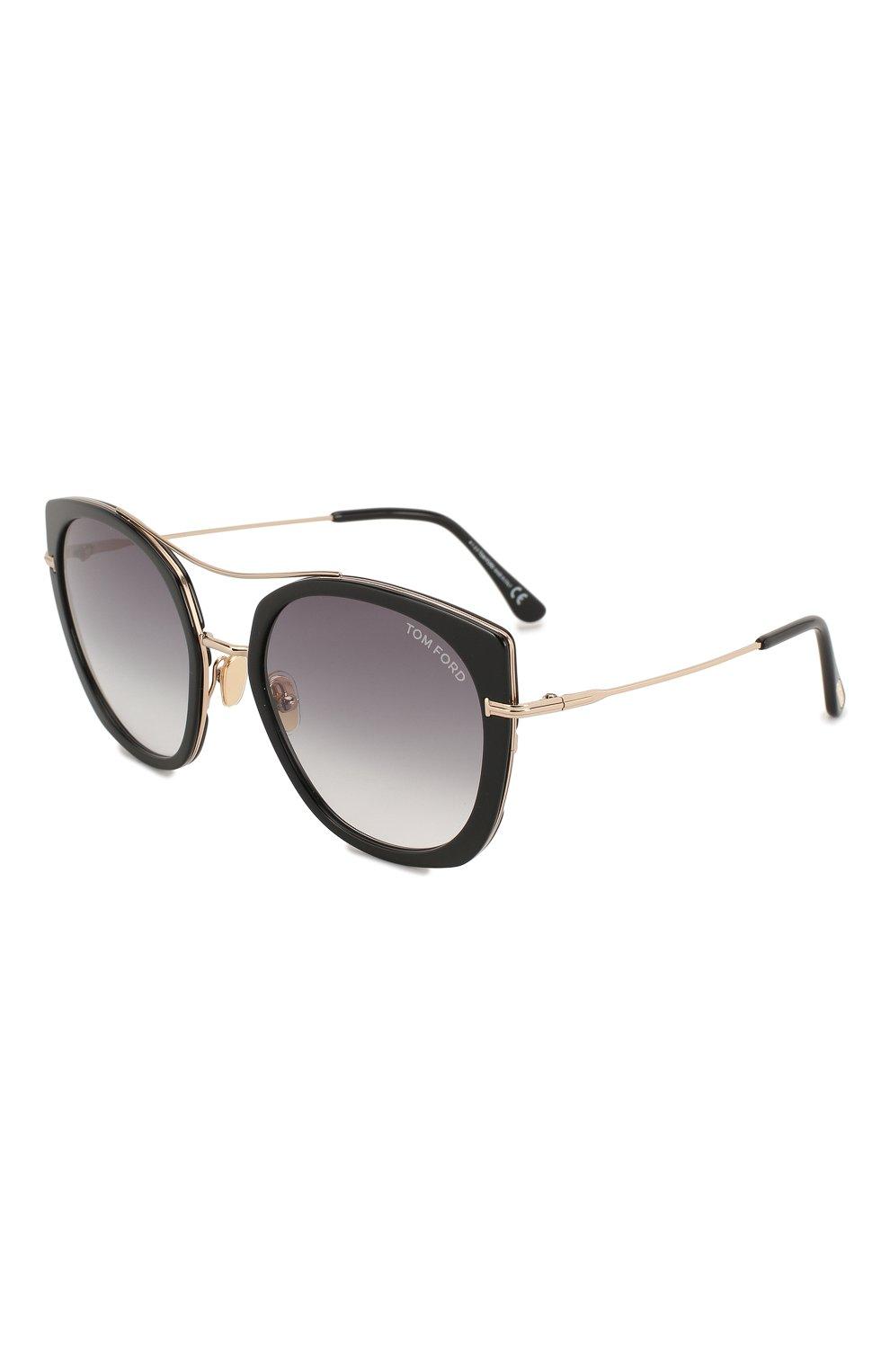 Женские солнцезащитные очки TOM FORD черного цвета, арт. TF760 01B | Фото 1