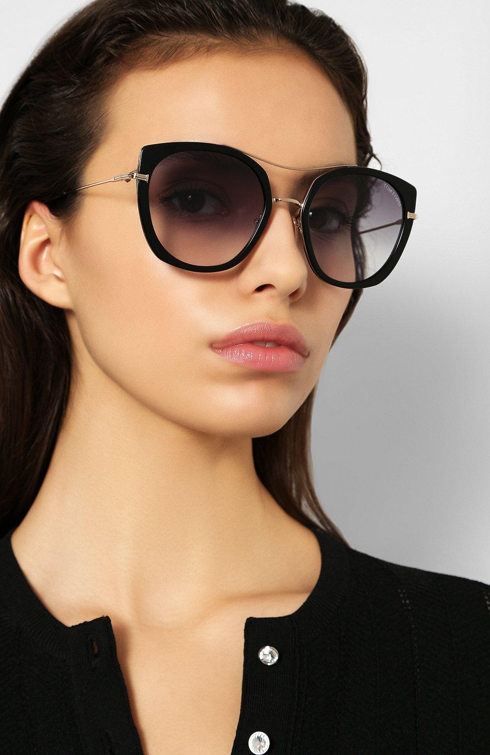 Женские солнцезащитные очки TOM FORD черного цвета, арт. TF760 01B | Фото 2