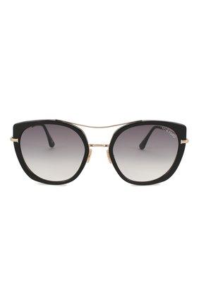 Женские солнцезащитные очки TOM FORD черного цвета, арт. TF760 01B | Фото 3