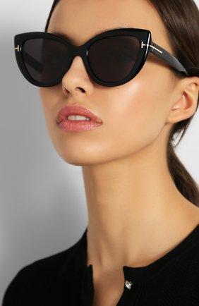 Женские солнцезащитные очки TOM FORD черного цвета, арт. TF762 01A | Фото 2